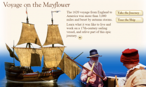 Explore the Mayflower and its voyage